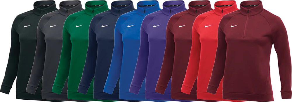 Custom Nike Women's Therms Zip Sweatshirts