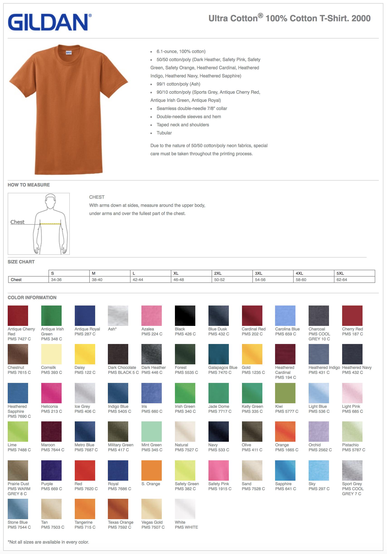 Gildan 200 Custom T-Shirts