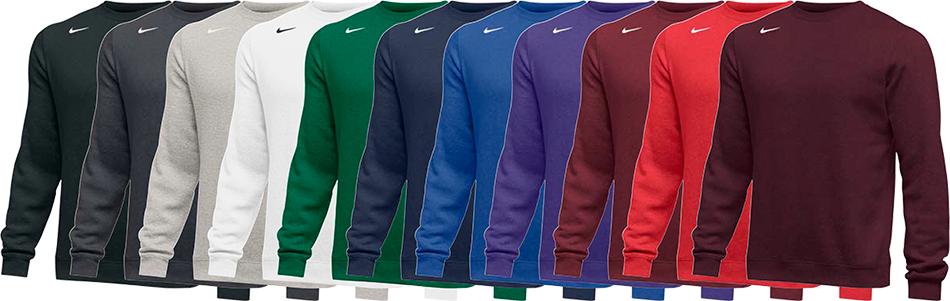 Nike Club Custom Crew Sweatshirts